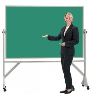 Reversible Board Porcelain Chalkboard Both Sides