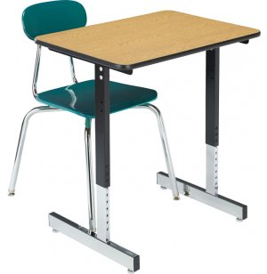 T-Leg Classroom Desk with High-Pressure Laminate Top