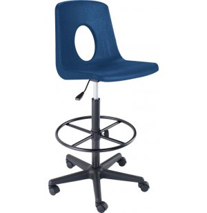 Poly Shell Swivel Drafting Stool