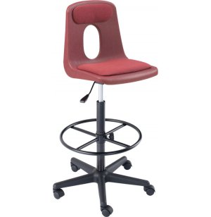 Padded Poly Shell Swivel Drafting Stool