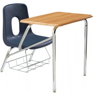 Poly Student Chair Desk - WoodStone Top
