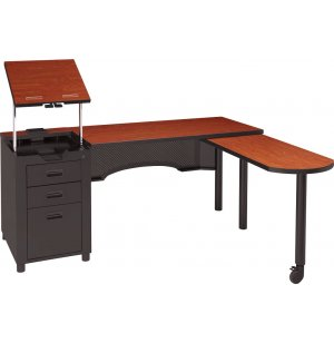 Deluxe Nate Teacher's Desk with Integral Pedestal