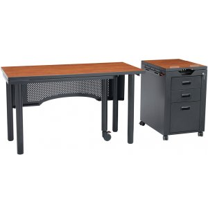 Deluxe Nate Teachers Desk with Removable Pedestal
