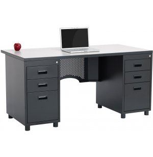 Nate Teachers Desk - Double Pedestal