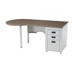 Nate Peninsula Teachers Desk - Single Pedestal