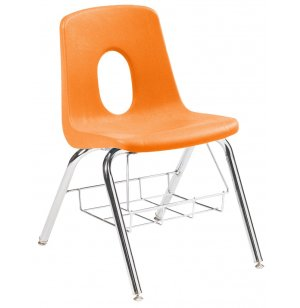 120 Series Poly Shell Chair with Book Basket