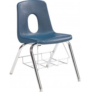 Poly Shell Classroom Chair with Bookrack