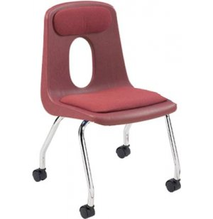 Poly Shell Classroom Chair - Casters, Padded