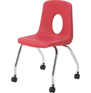 Poly Shell Classroom Chair with Casters