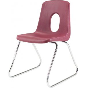Poly Shell Classroom Chair - Sled Base