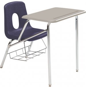 Poly Student Chair Desk - Hard Plastic Top