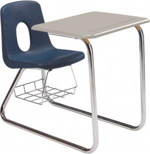 Sled Base Poly Combo Desk - Hard Plastic Top