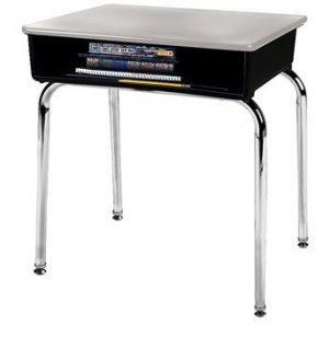 Open Front School Desk - Hard Plastic Top
