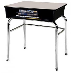 Open Front School Desk - Laminate Top, U Brace