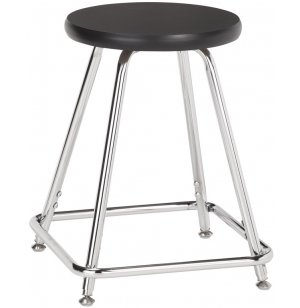 Adjustable-Height Lab Stool with Laminate Seat