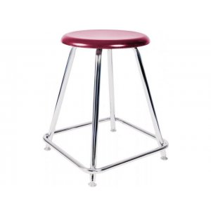 Lab Stool with Hard Plastic Seat
