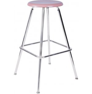 Fixed-Height Lab Stool with Hard Plastic Seat