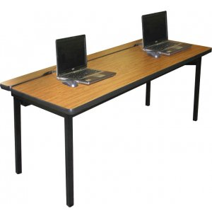 Flip-Top Computer Table Adjustable Ht.