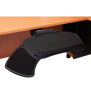 Articulating Ergonomic Keyboard Tray with Sliding Mousepad
