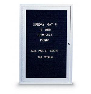 Enclosed Illuminated Letterboard - 1 Door