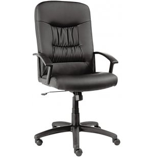 York Leather High-Back Chair