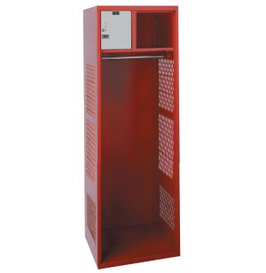 Athletic Locker w/12in Lock Box and Coat Rod