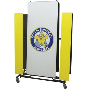 Mobile Cafeteria Table - Vinyl Edge, 12'