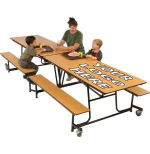 Mobile Cafeteria Table - Vinyl Edge, 10'