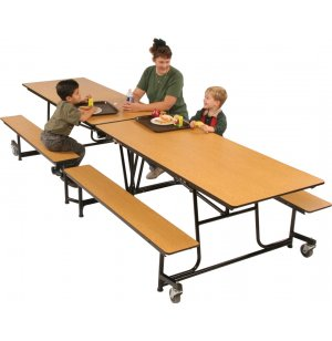 Mobile Cafeteria Table - Plywood Core, Vinyl Edge, 12'