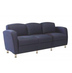 Accompany Metal Leg 3-Seat Reception Sofa - Grade 1