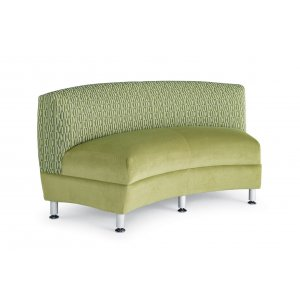 Accompany Metal Leg Curved Loveseat - Grade 2