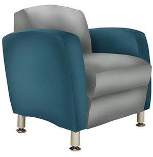 Metal Leg Lobby Chair Two Tone Grade 1