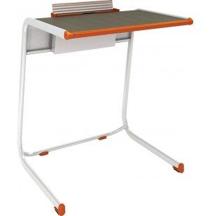 A&D Cantilever School Desk with Tablet Book Cradle