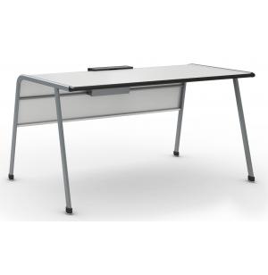 A & D Teacher Desk with Tablet Book Cradle