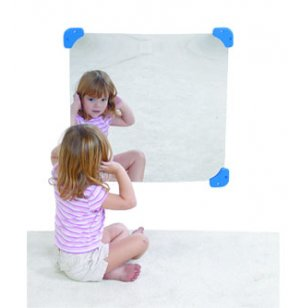 Square Child Safe Classroom Wall Mirror