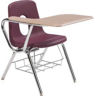 Tablet Arm Chair Desk - Hard Plastic Top