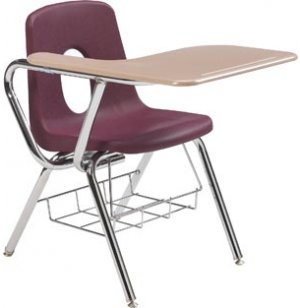 Tablet Arm Chair Desk - WoodStone Top