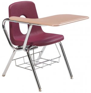 Tablet Arm Chair Desk - WoodStone Top