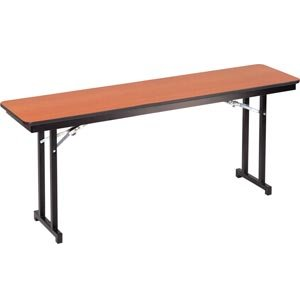 Plywood-Core Folding Table Double-T Leg 18 x 96