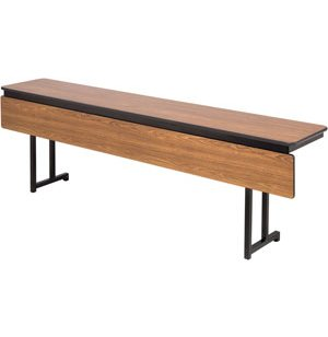 Adjustable Folding Training Table with Modesty Panel