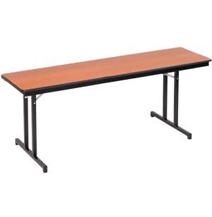 Plywood-Core Folding Table Double-T Leg 24 x 96
