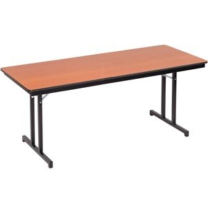 Plywood-Core Folding Table Double-T Leg 30 x 96