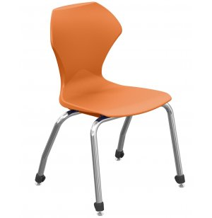 Apex Stacking School Chair - Chrome Frame