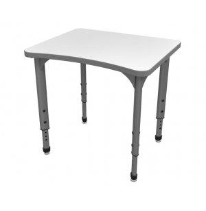 Apex Adjustable Curve School Desk - Whiteboard Top