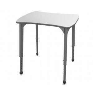 Apex Adj. Collaborative School Desk - Whiteboard Top