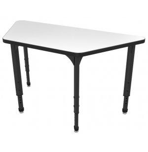 Apex Adj. Trapezoid Activity Table - Whiteboard