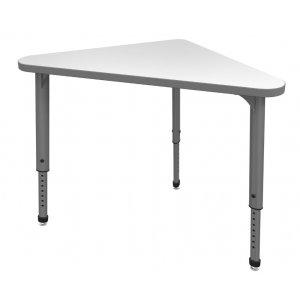 Apex Adjustable Triangle School Desk - Whiteboard Top