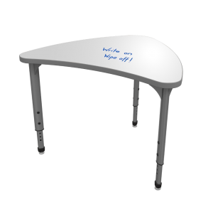 Adjustable Collaborative School Desk - Whiteboard Top