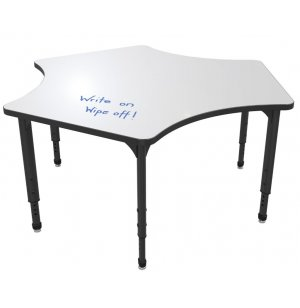 Apex Adjustable Delta Activity Table - Whiteboard Top