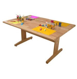 Wood Top Art Table